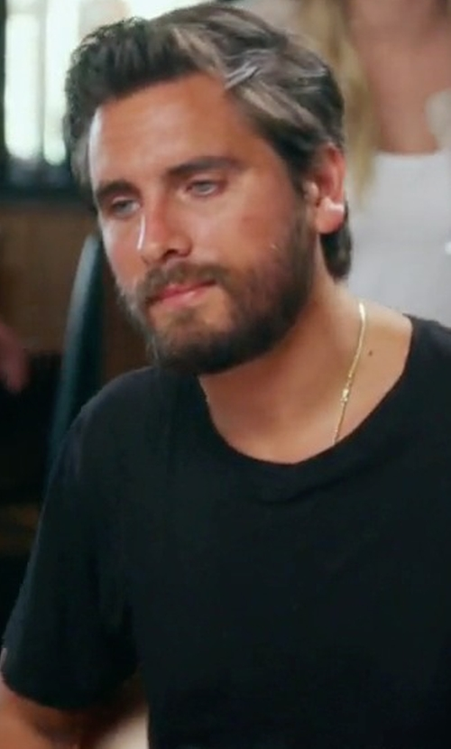 Scott Disick with John Elliott Classic Crew Co-Mix T-Shirt in Keeping Up With The Kardashians