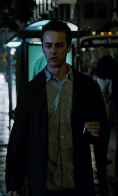 Edward Norton with Stafford Executive Super Wool Suit Jacket in Fight Club