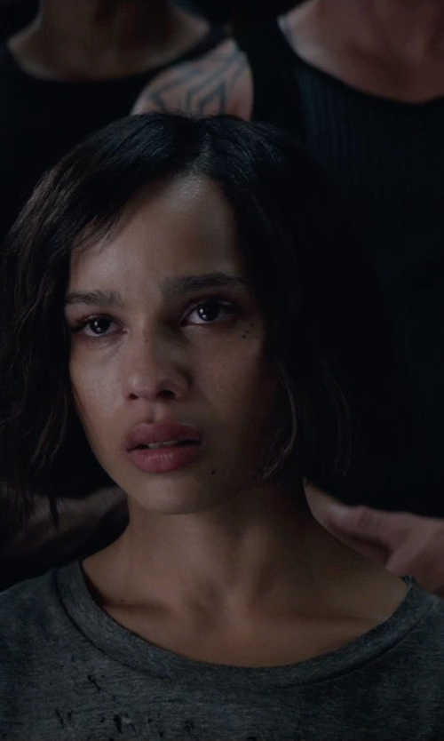 Zoë Kravitz with LNA Crescent Crew Neck Shirt in The Divergent Series: Insurgent