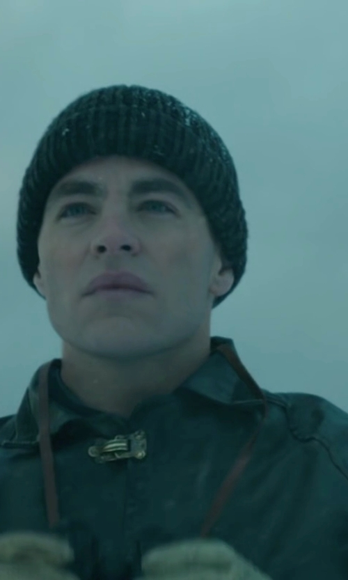 Chris Pine with Aquascutum Roadgate Raincoat in The Finest Hours