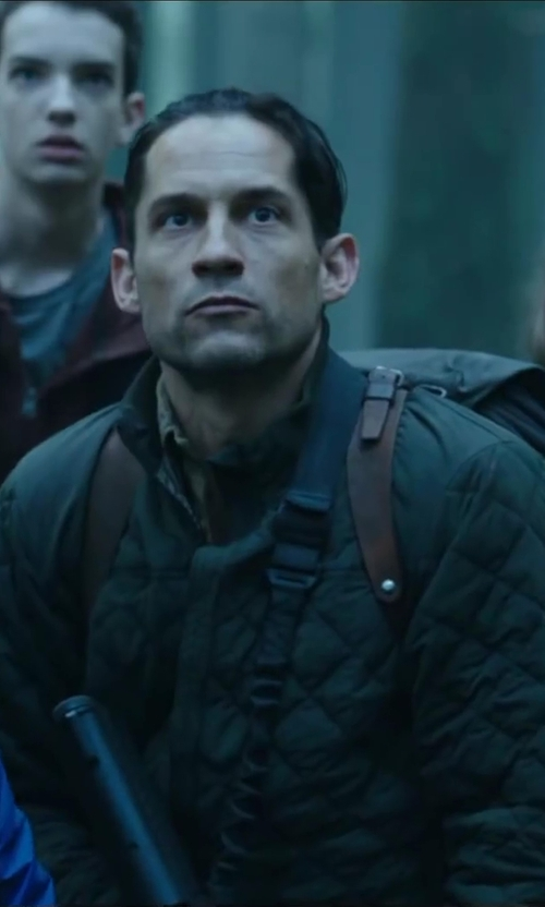 Enrique Murciano with CRIMINAL DAMAGE Quilted Bomber Jacket in Dawn of the Planet of the Apes