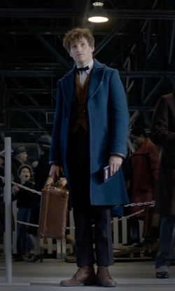 Eddie Redmayne with Michael Kors Lance Leather Hiking Boots in Fantastic Beasts and Where to Find Them