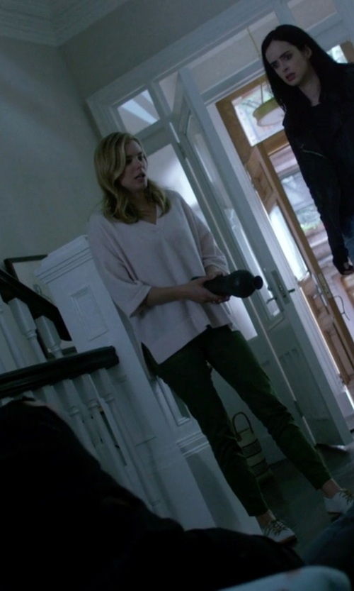 Susie Abromeit with Escapada White Clara Top in Jessica Jones