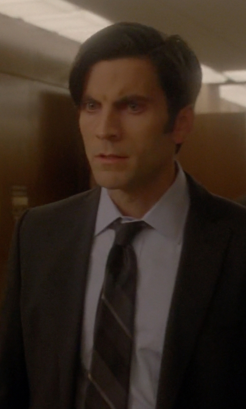 Wes Bentley with Dolce & Gabbana Striped Silk Jacquard Tie in American Horror Story