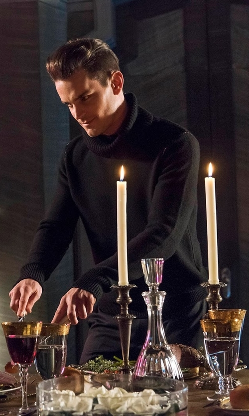 Matt Bomer with Isabel Benenato Turtle Neck Sweater in American Horror Story