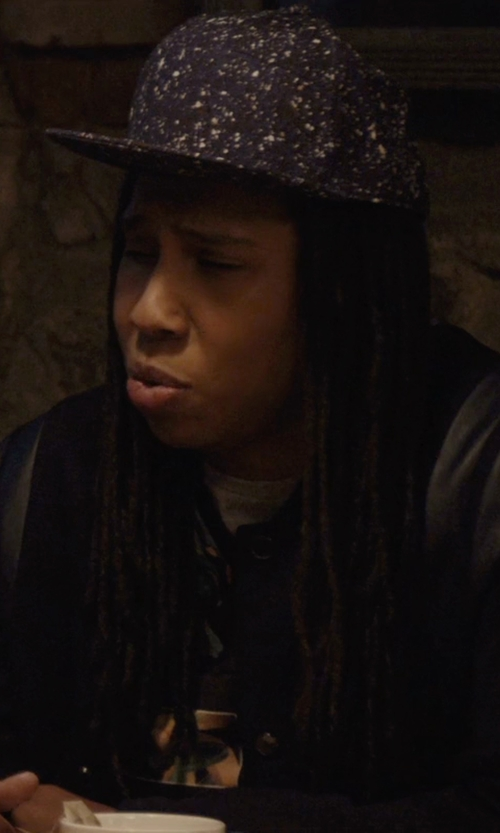 Lena Waithe with Egelbel Dotted Snapback Cap in Master of None