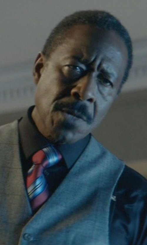 Clarke Peters with Notch Men's Silk Necktie in John Wick