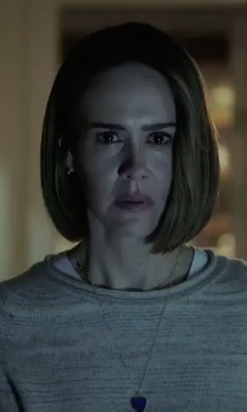 Sarah Paulson with Eileen Fisher Tencel & Wool Boxy Sweater in American Horror Story