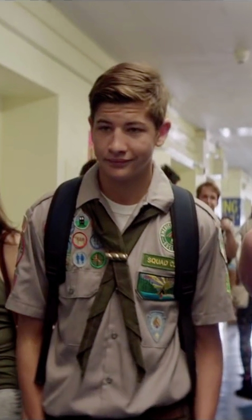 Tye Sheridan with BSA Neckerchief in Scout's Guide to the Zombie Apocalypse