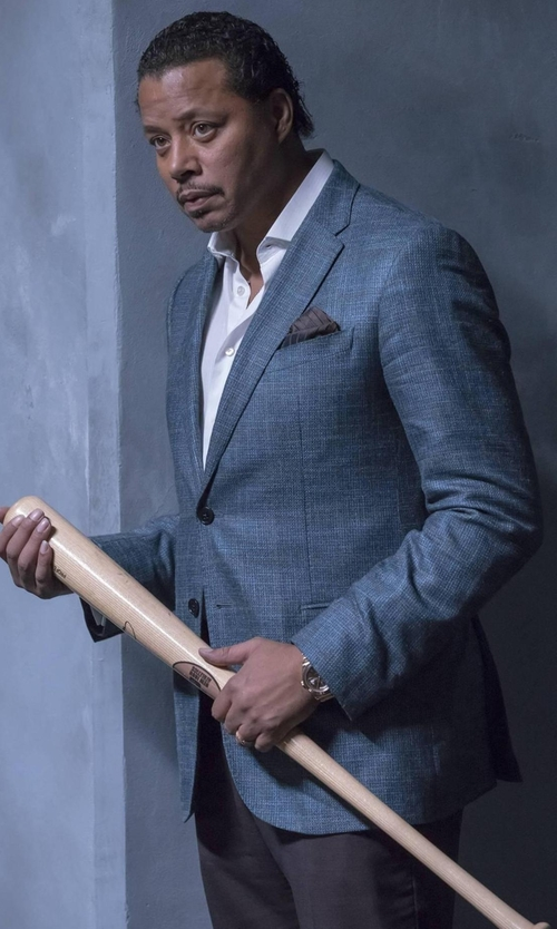 Terrence Howard  with Canali Sienna Contemporary-Fit Textured Sport Coat in Empire