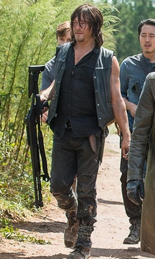 Norman Reedus with Levi's 505 Regular Fit Strong Jeans in The Walking Dead