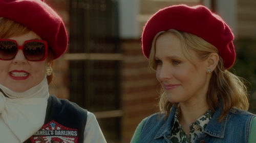 Kristen Bell with Village Hat Shop Wool Fashion Beret in The Boss