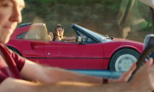 Hannah Davis with Ferrari 1981 308 GTSI Coupe in Vacation