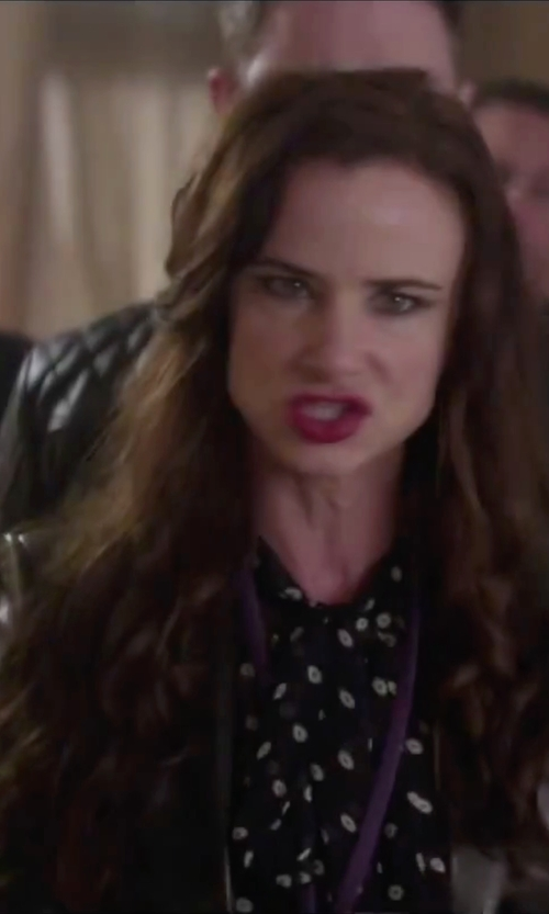 Juliette Lewis with Lauren Ralph Lauren Leather One-Button Blazer in Jem and the Holograms