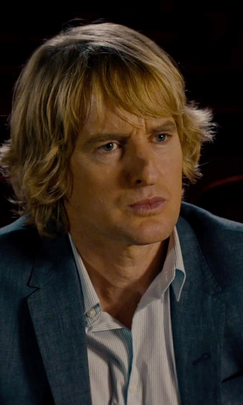 Owen Wilson with Hugo Boss Hutson Wool-Blend Inwrought Two-Piece Suit in She's Funny That Way