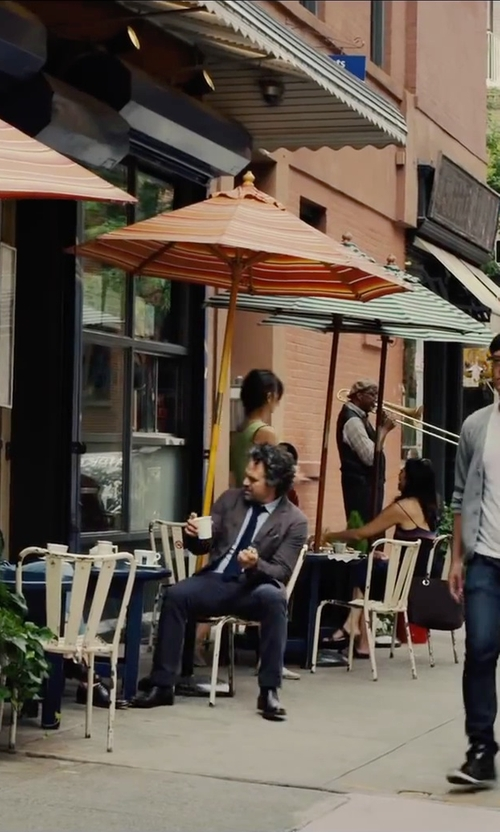 Mark Ruffalo with Burberry Skinny Fit Cotton Twill Chinos Pants in Begin Again