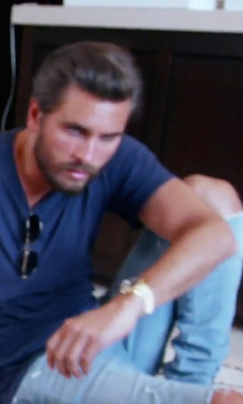 Scott Disick with Ksubi Van Winkle Non Cents Distressed Skinny Jeans in Keeping Up With The Kardashians