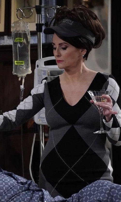 Megan Mullally with Stella McCartney Argyle Sweater Dress in Will & Grace