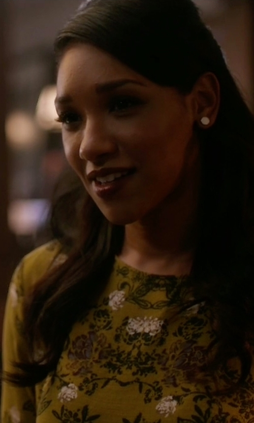 Candice Patton with Free People Slubby Crinkle Smooth Talker Top in The Flash
