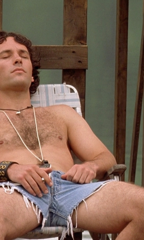 Paul Rudd with Topman Bleach Ripped Skinny Denim Shorts in Wet Hot American Summer