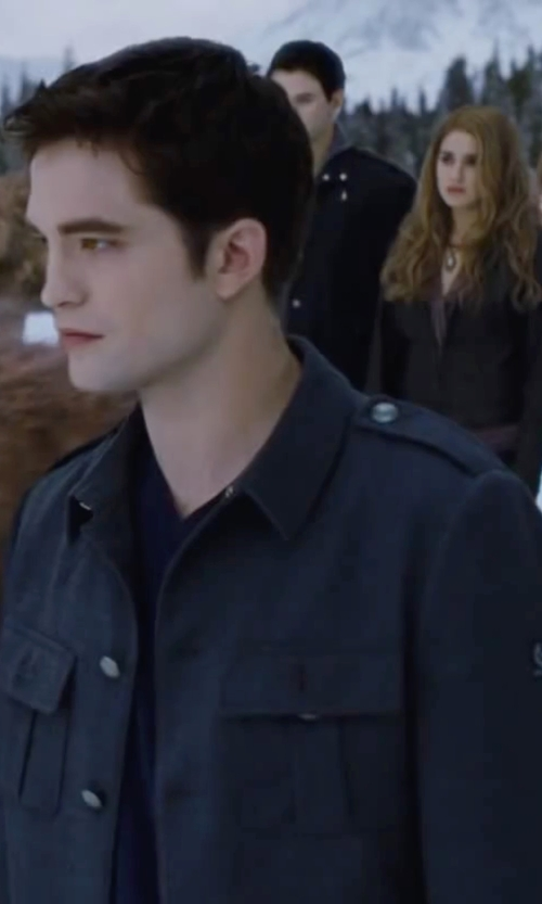 Robert Pattinson with Outdoor Research Winter Deadpoint Jacket in The Twilight Saga: Breaking Dawn - Part 2