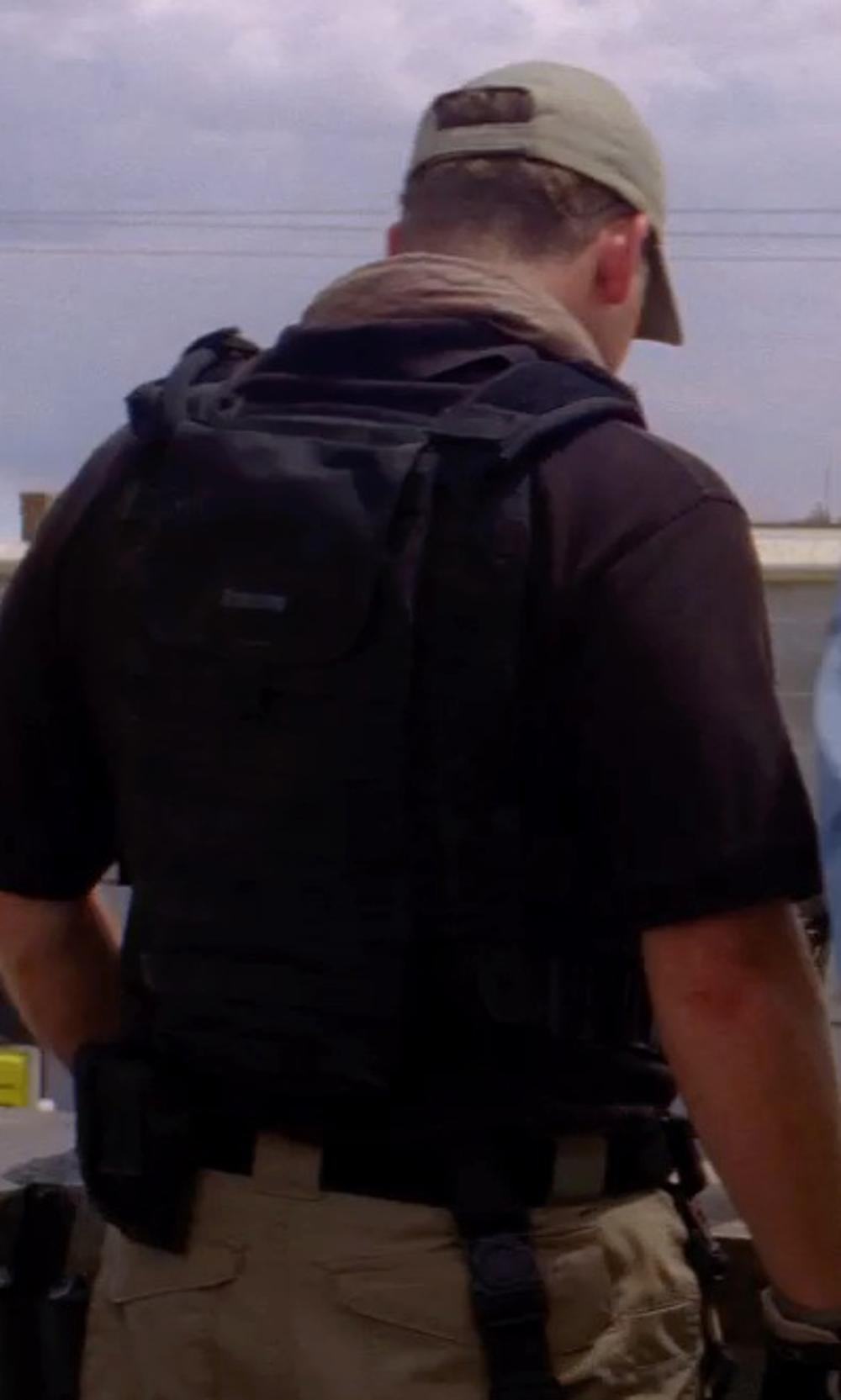 Unknown Actor with CamoOutdoor Tactical Combat Patrol M.Release Army Assault MOLLE Vest Carrier Police Black in Transcendence