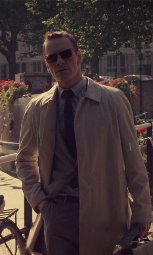 Michael Fassbender with Giorgio Armani Textured French-Cuff Dress Shirt in The Counselor