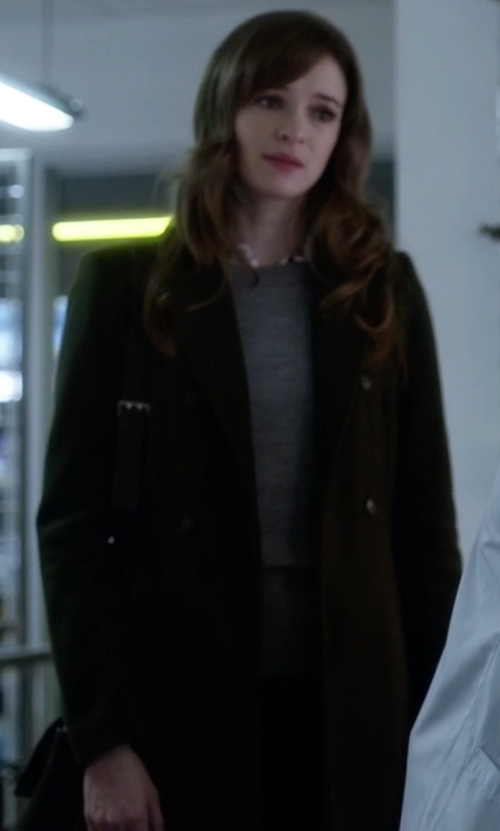 Danielle Panabaker with Mauro Grifoni Double-Breasted Coat in The Flash