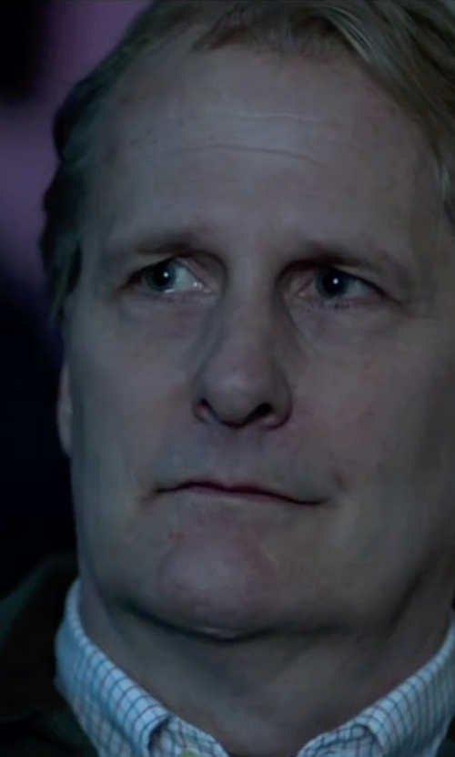 Jeff Daniels with Golden Bear Wool Lined Goat Suede Jacket in Steve Jobs
