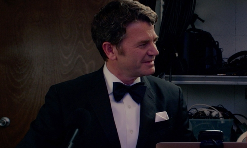 John Michael Higgins with Brooks Brothers Silk Pocket Square in Pitch Perfect 2