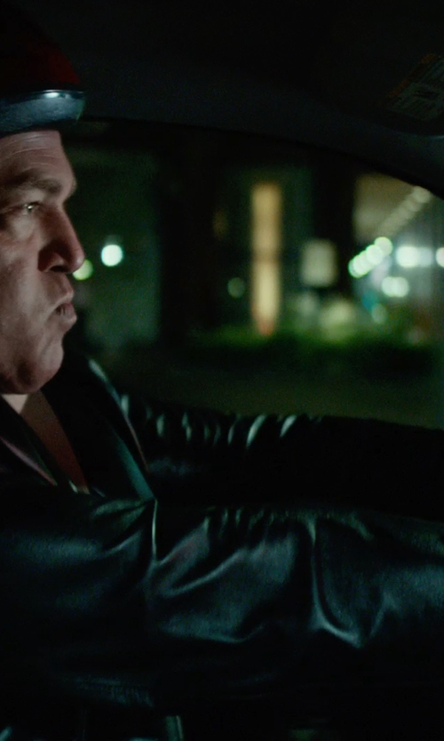 No Actor with Excelled Leather Blazer Jacket in Focus