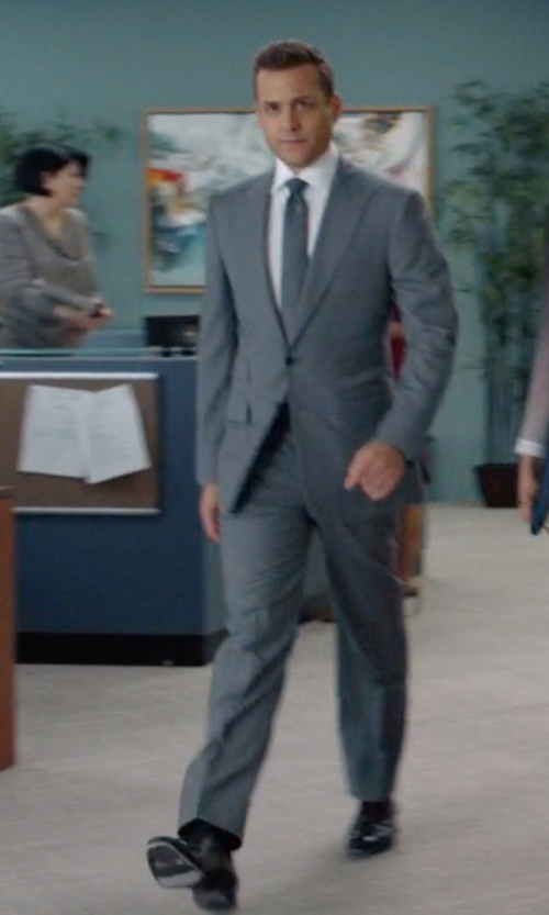 Gabriel Macht with Santoni 'Salem' Cap Toe Oxford Shoes in Suits