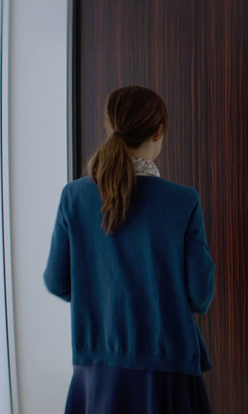Dakota Johnson with Loft Cotton Cardigan in Fifty Shades of Grey