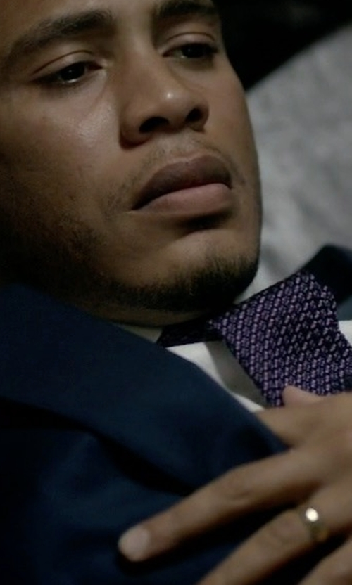 Trai Byers with Eton Swirl-Print Silk Tie in Empire