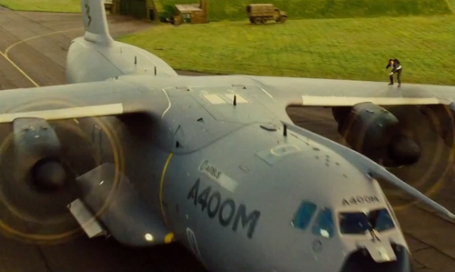Unknown Actor with Airbus Defence and Space A400M Atlas Aircraft in Mission: Impossible - Rogue Nation