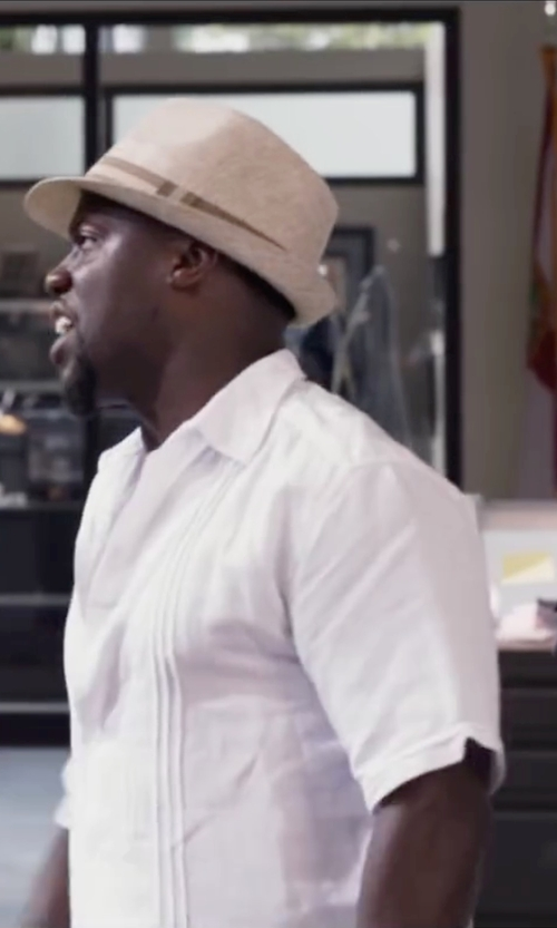 Kevin Hart with J.Crew Short Sleeve Irish Linen Shirt in Ride Along 2