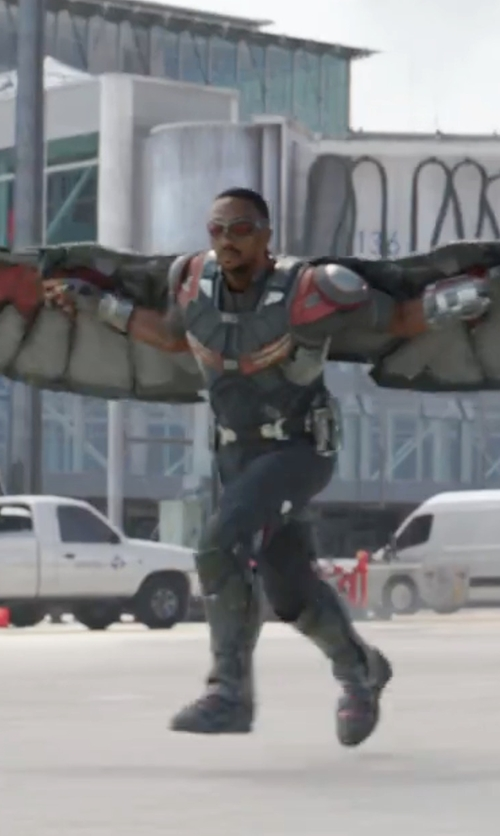 Anthony Mackie with Judianna Makovsky (Costume Designer) Custom Made Falcon Suit in Captain America: Civil War
