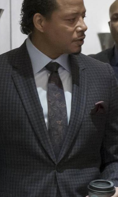 Terrence Howard  with Mimi Fong Cherry Blossom Silk Tie in Empire