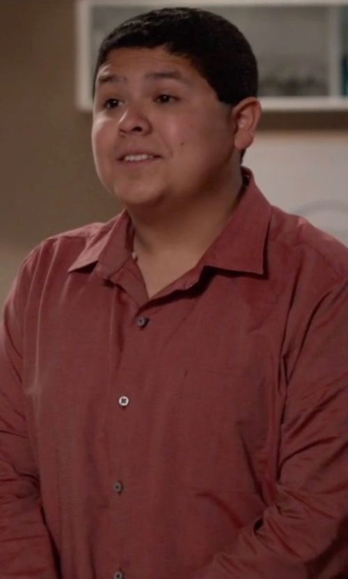 Rico Rodriguez with Pendleton Long Sleeve Sir Pen Button Down Shirt in Modern Family