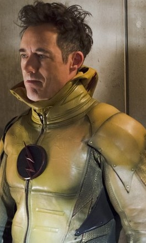 Tom Cavanagh with Kate Main (Costume Designer) Custom Made 'Reverse Flash' Costume in The Flash