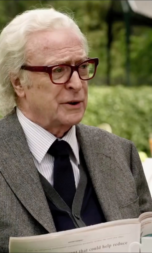 Michael Caine with Zanone Buttoned Knit Waistcoat in Youth