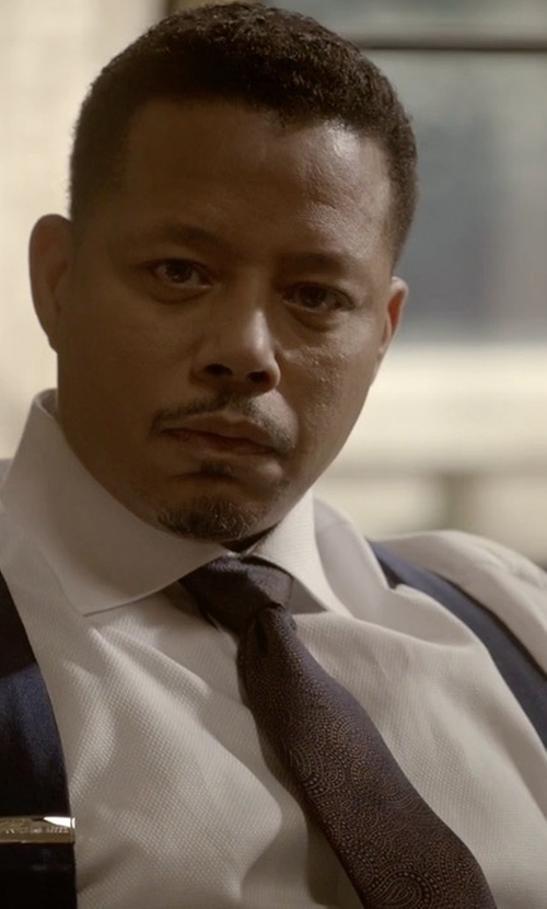 Terrence Howard  with Kiton Paisley Wool/Silk Tie in Empire
