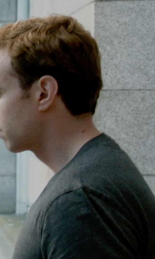 Rafe Spall with Vince Slub V Neck T-Shirt in What If