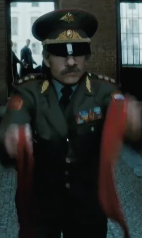 Tom Cruise with CollectRussia Army General's Dress Visor Hat in Mission: Impossible - Ghost Protocol