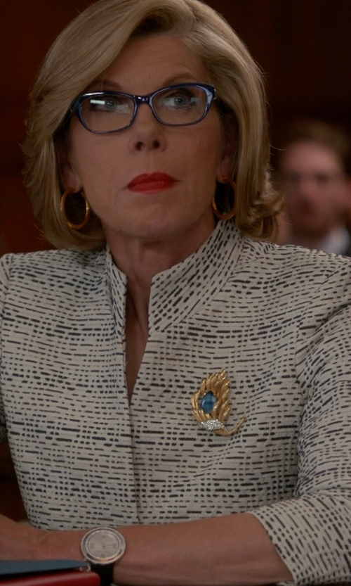 Christine Baranski with Burberry Textured Dial Watch in The Good Wife