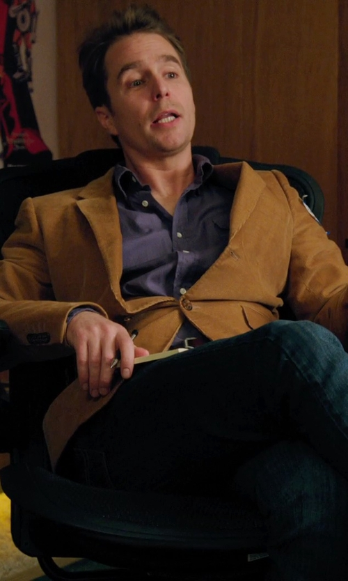 Sam Rockwell with Calvin Klein Chintz Regular Fit Dress Shirt in Laggies