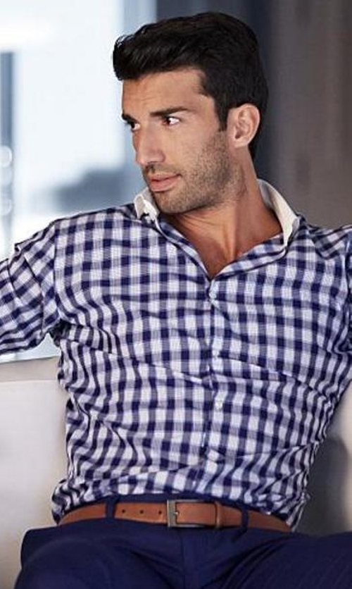 Justin Baldoni with Peter Millar Jewel Plaid Shirt in Jane the Virgin