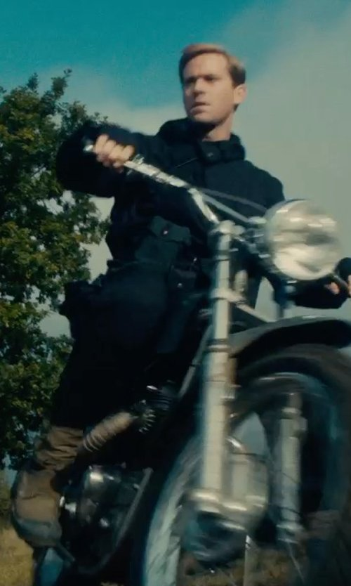 Armie Hammer with Chippewa Logger Waterproof Boot in The Man from U.N.C.L.E.