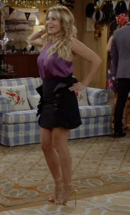 Candace Cameron Bure with Stuart Weitzman The Courtesan Sandals in Fuller House