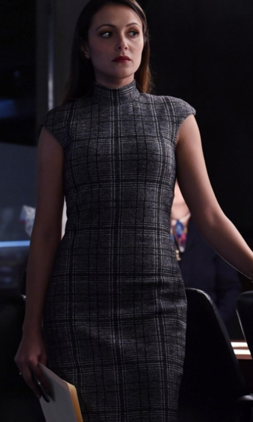 Italia Ricci with Brooks Brothers Glen Plaid Sheath Dress in Designated Survivor